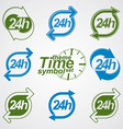 Graphic web 24 hours timer around-the-clock flat vector image