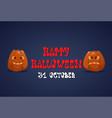 happy halloween banner pumpkins traditional vector image vector image
