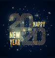 happy new year poster colorful golden gradient vector image