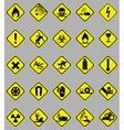 hazard signs set vector image