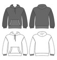 hoodie man template front back views vector image vector image