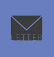 letter envelope illutration on blue vector image vector image