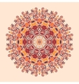 Mandala Print Round Ornamental Symmetry Pattern vector image vector image