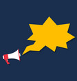 megaphone icon cartoon style marketing concept vector image