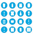 packaging icon blue vector image vector image