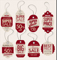 paper price tag retro vintage style design vector image vector image