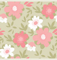 pastel vintage color flower seamless pattern vector image