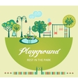 Playground Flat vector image vector image