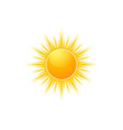 realistic sun icon for weather design sunshine vector image vector image