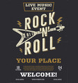 rock music flyer live event poster vector image vector image