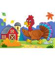 running turkey bird theme image 3 vector image vector image