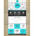Seafood menu concept Web site design vector image