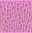 seamless childish pattern with letters z zzz vector image vector image