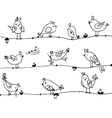 set cute birds in vector image vector image