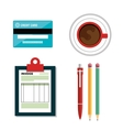 set icon invoice design vector image
