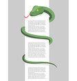 Snake wraps around With space for text Re vector image vector image