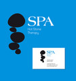 spa stone therapy logo vector image