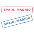spain madrid textile stamps vector image vector image
