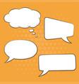 speech bubbles set on orange background pop art vector image vector image