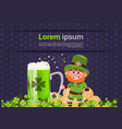 st patricks day card background template vector image