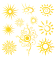 Sun sunshine weather vector image vector image
