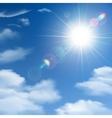 Sunshine Background Poster vector image