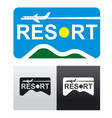 travel and resort logo vector image vector image