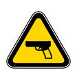 triangular warning hazard symbol vector image vector image