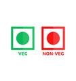 veg and non-veg minimal symbol vector image