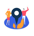 we are here - flat design style colorful vector image vector image