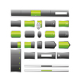 Web elemets collection vector image vector image