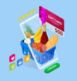 weekend sale and discount offers online shopping vector image vector image