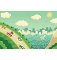Weekend trip away from the city vector image