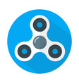 white fidget spinner icon flat style vector image vector image