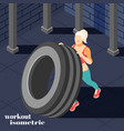 workout isometric composition vector image