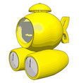 yellow submarine on white background vector image vector image