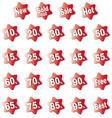 discount labels380x400 vector image