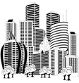 Downtown skyline vector image