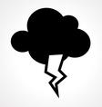 lightning cloud vector image