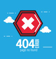 404 connection error icons vector image vector image