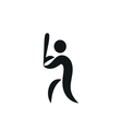 A man is playing baseball It is a stick figure vector image