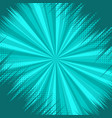 abstract comic explosive turquoise background vector image vector image