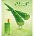 aloe vera cosmetics background vector image vector image