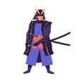 ancient samurai taking his sword armored japanese vector image