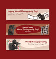 banner template design with world photography day vector image vector image