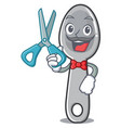 barber spoon character cartoon style vector image vector image