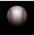 Baseball on Black Background vector image vector image