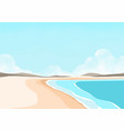 beach landscape with mountain and cloud sky vector image