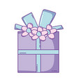 birthday giftbox cartoon vector image