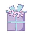 birthday giftbox cartoon vector image vector image